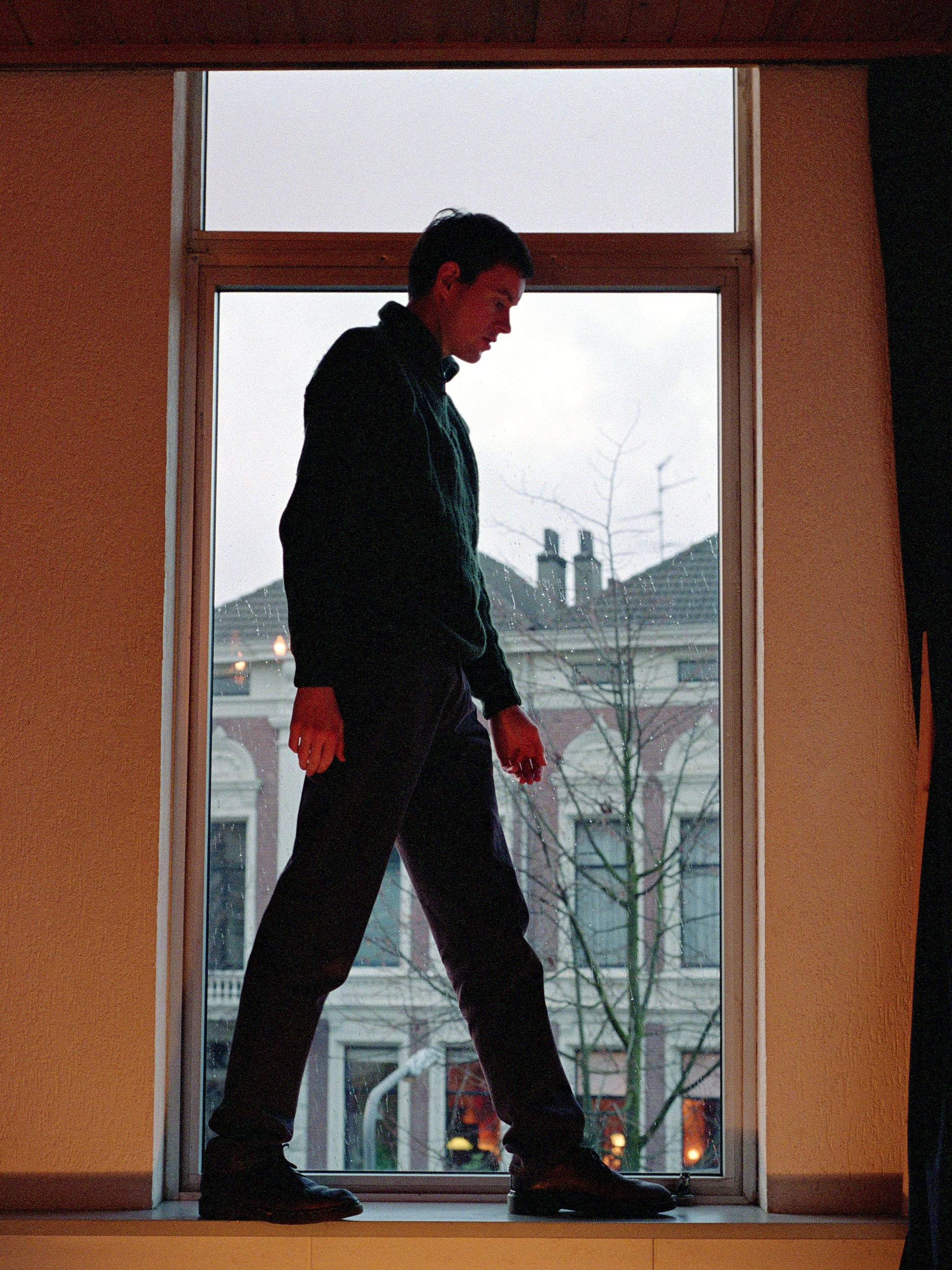 Self-portrait on Windowsill, photograph by Wouter van Riessen