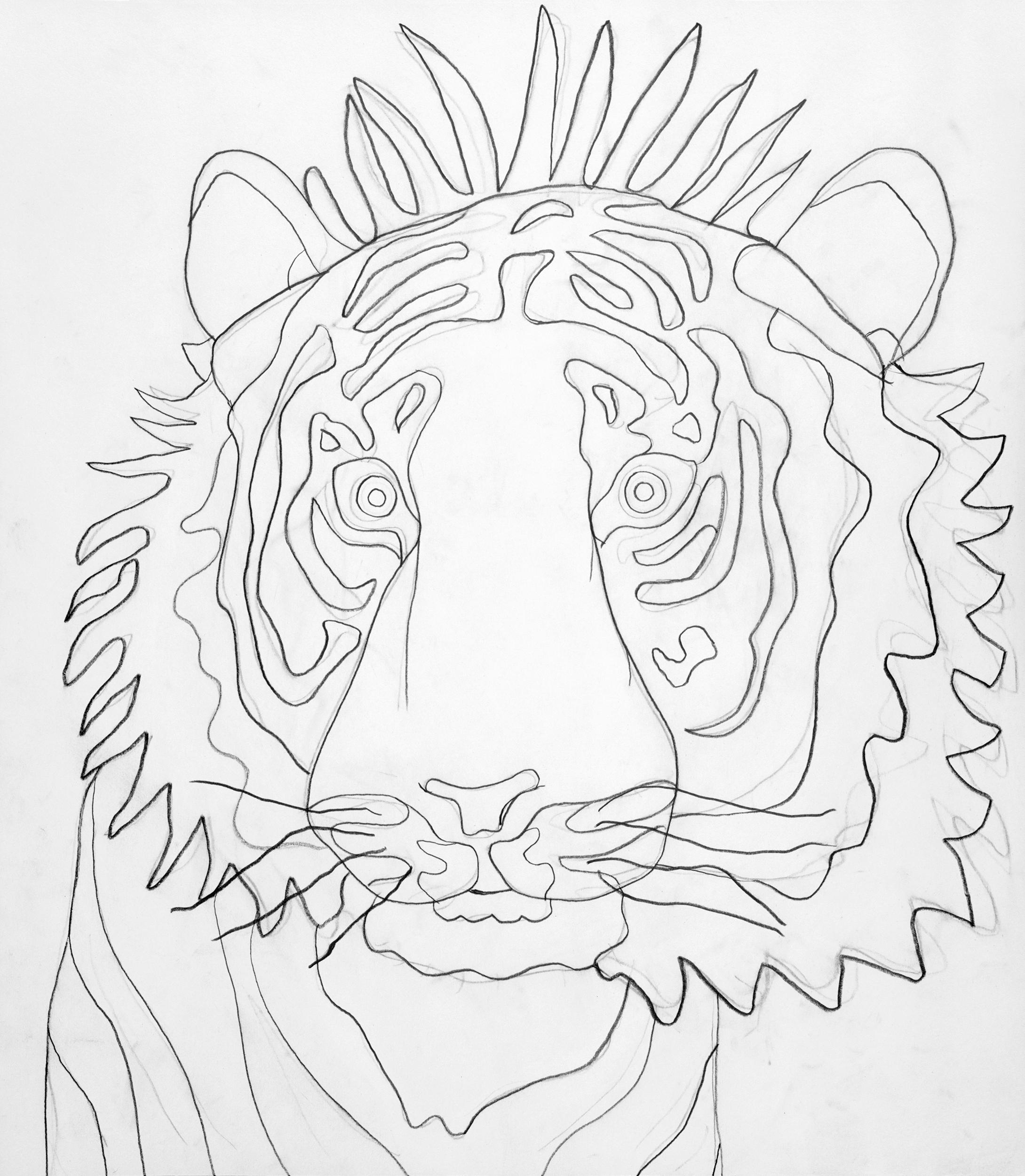 Tiger III, drawing by Wouter van Riessen