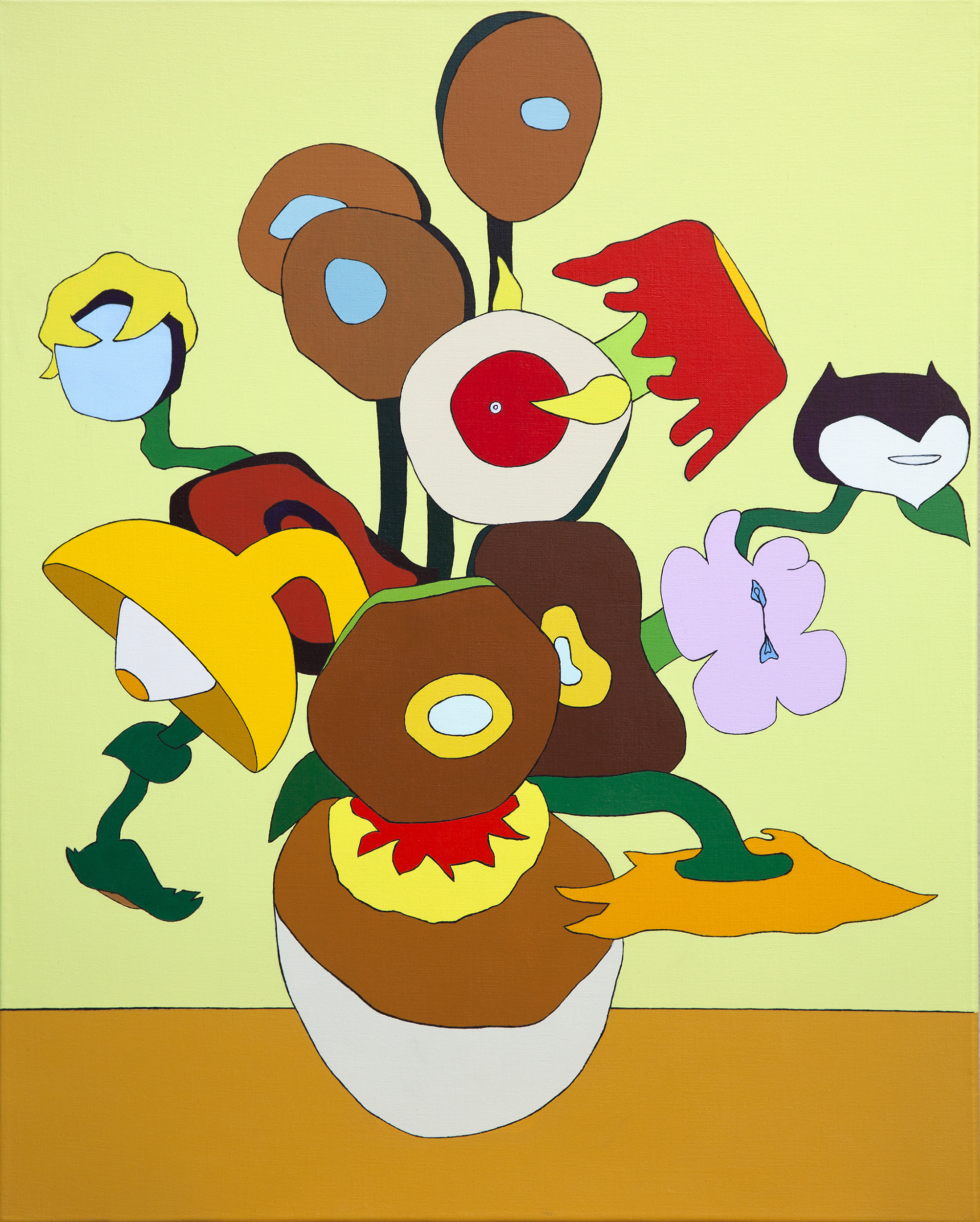 Twelve Sunflowers in a Vase IX, painting by Wouter van Riessen