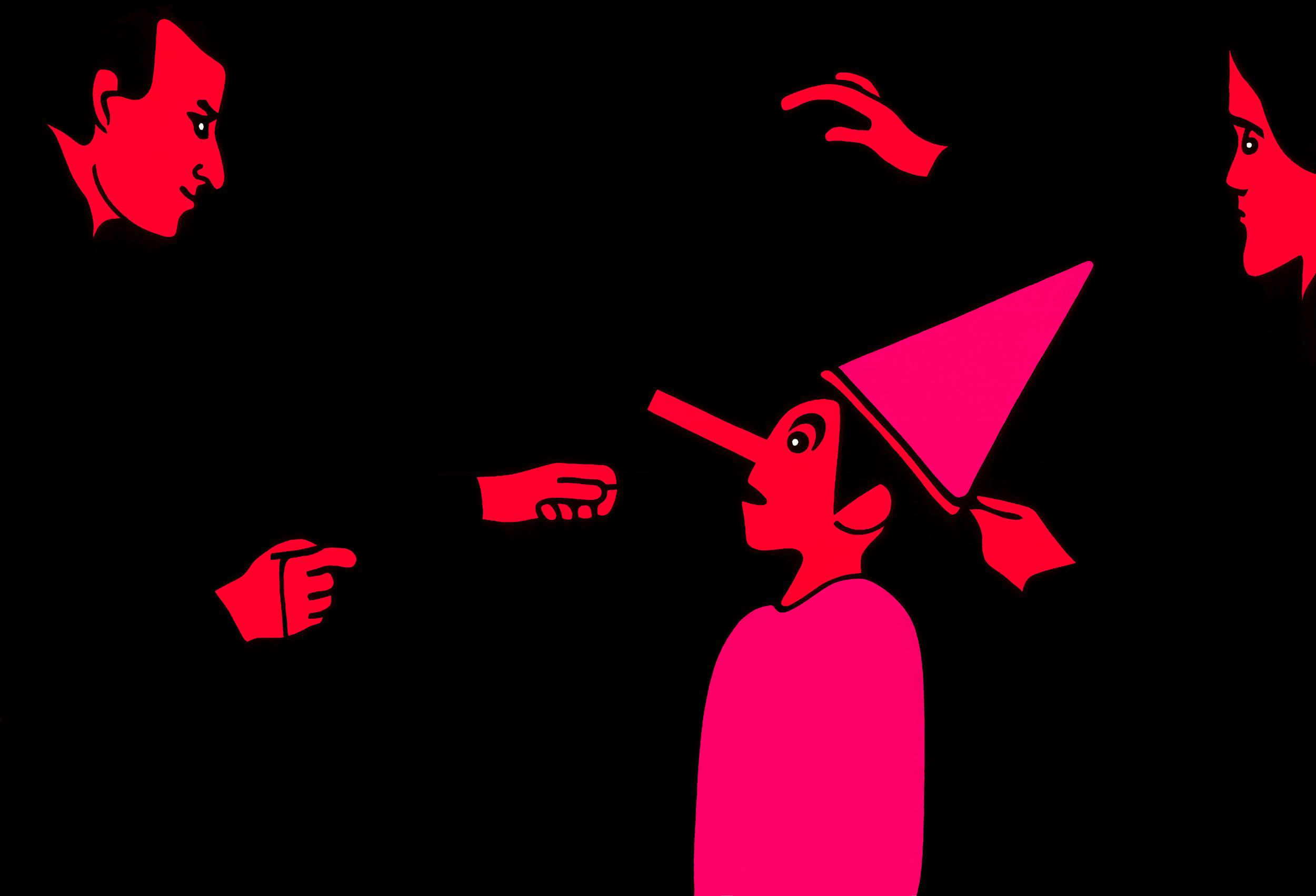 Mocking I, print by Wouter van Riessen