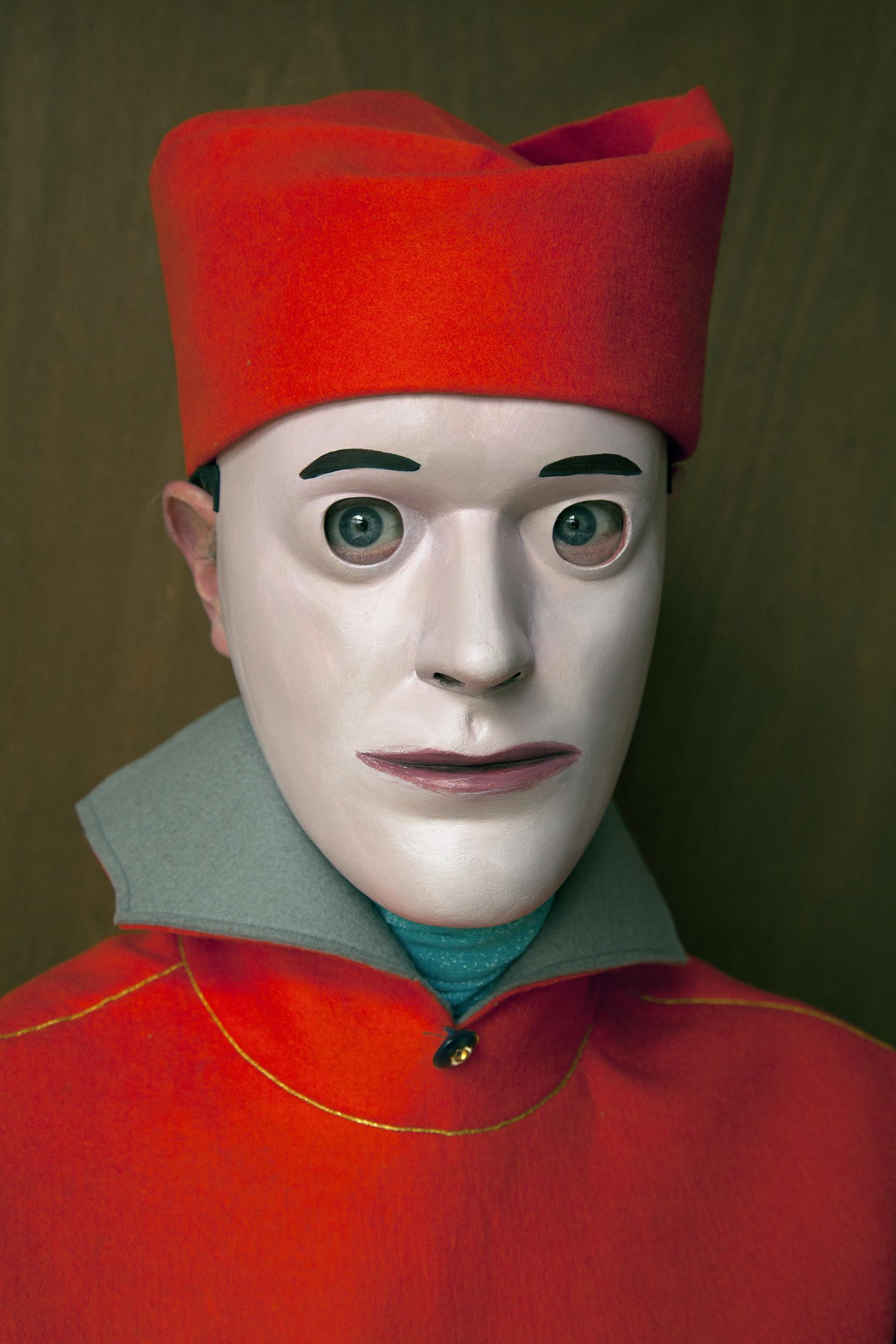 Self-portrait with Orange Cap, photograph by Wouter van Riessen