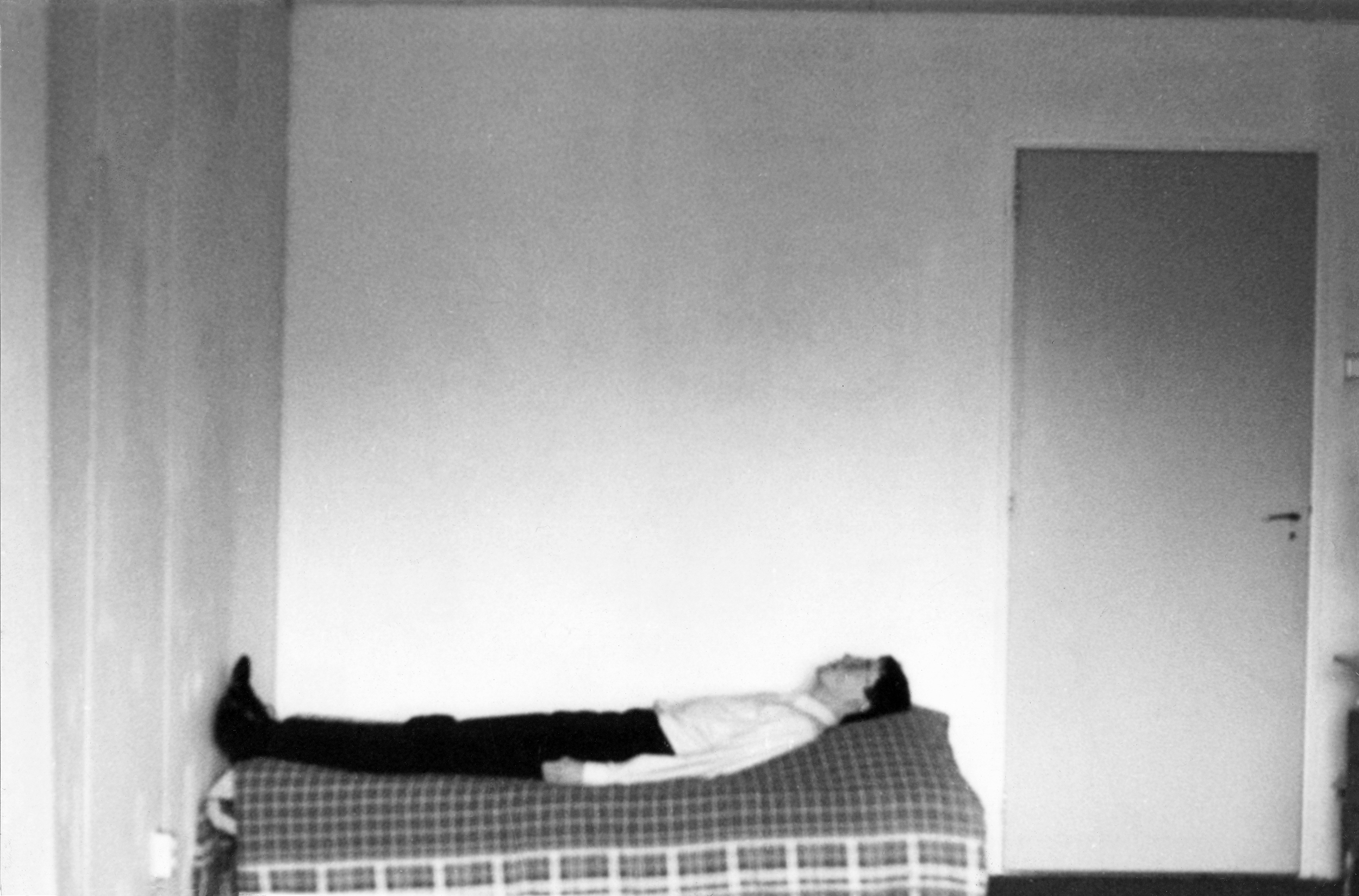 Self-portrait on Bed, photograph by Wouter van Riessen