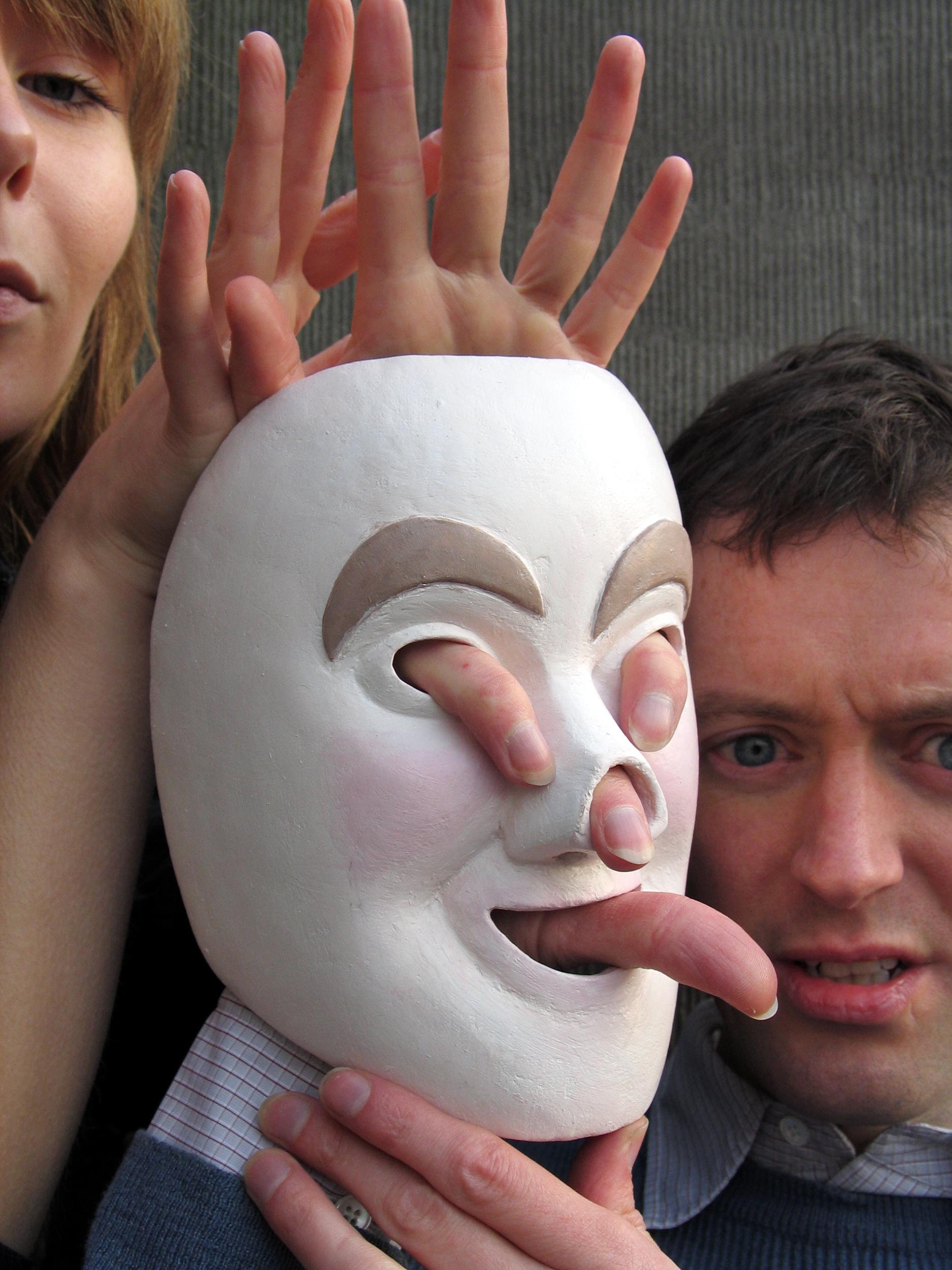 Handmask, photograph by Wouter van Riessen