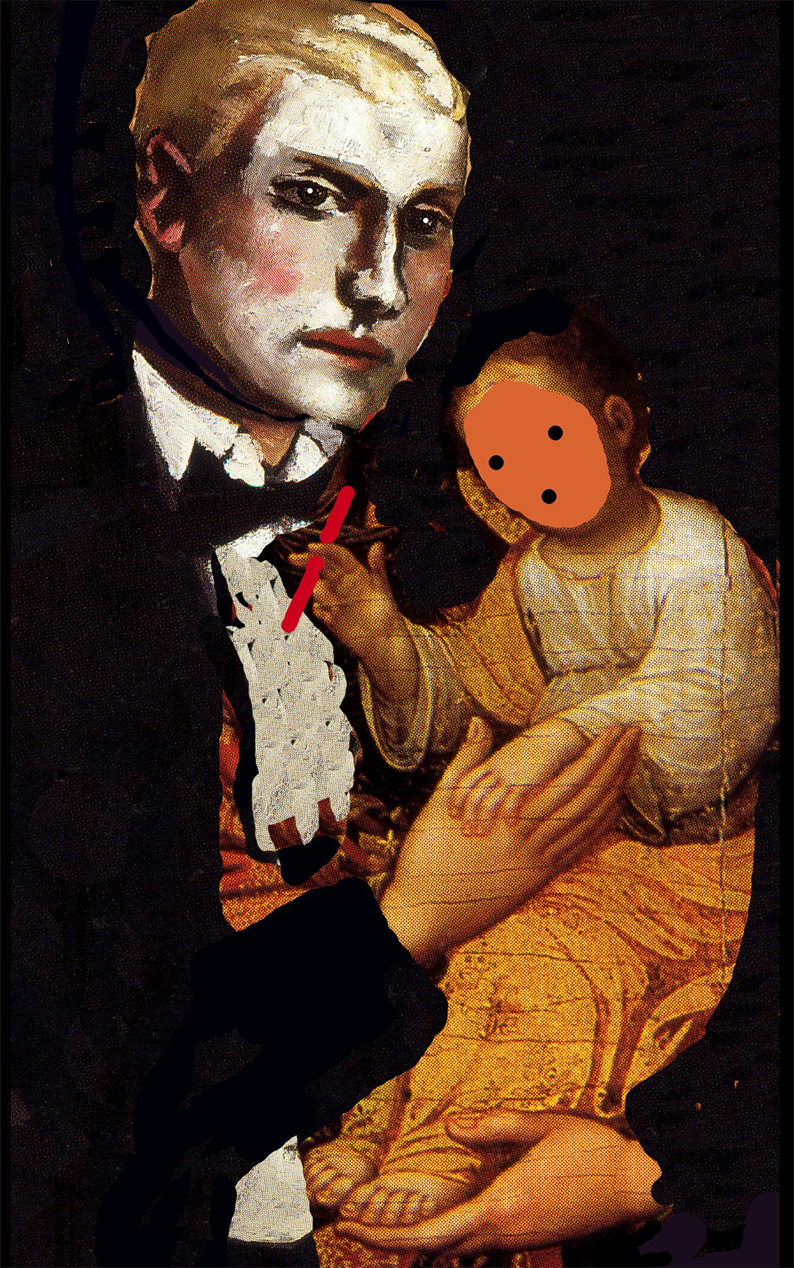 Beckmann Madonna, collage by Wouter van Riessen