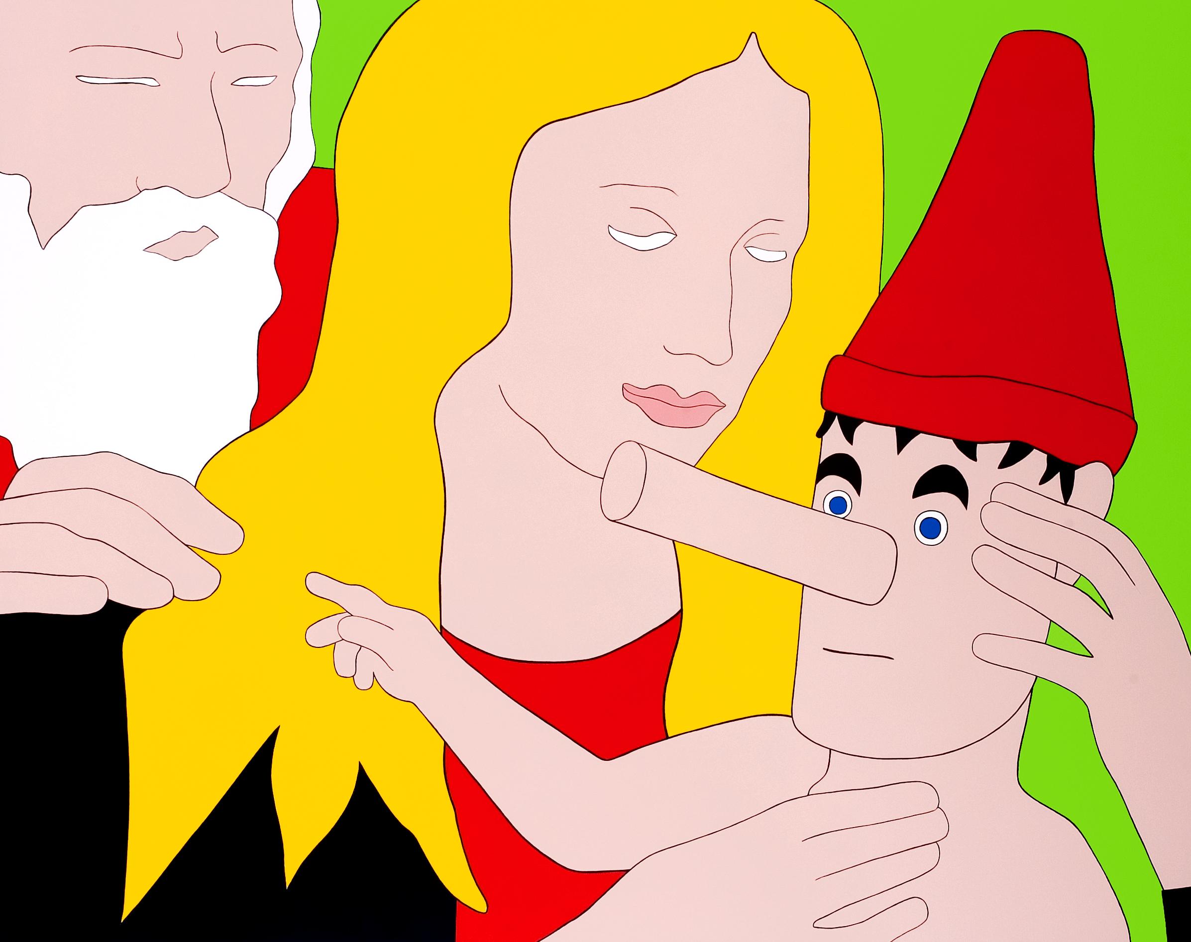 Raising, painting by Wouter van Riessen