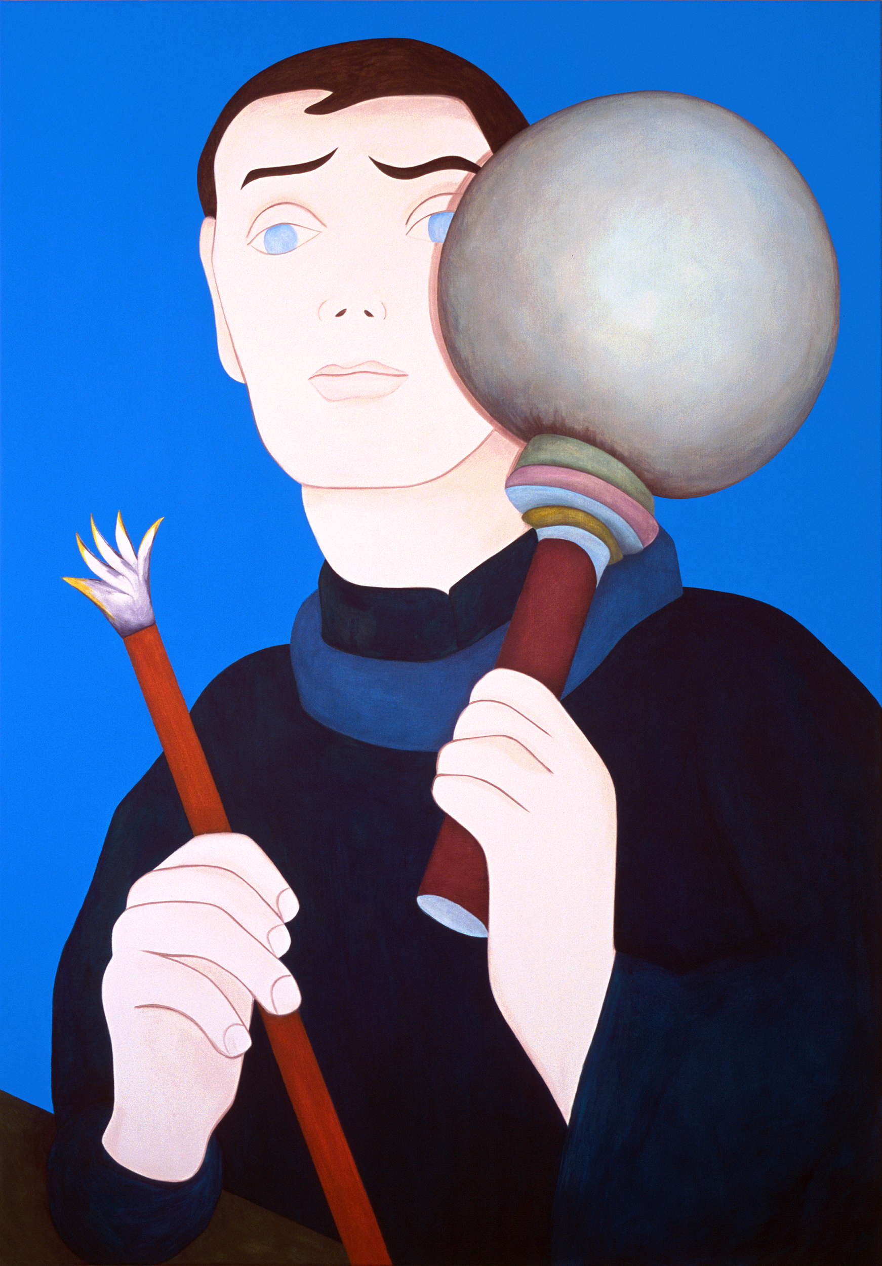 Self-portrait with an Orb, painting by Wouter van Riessen