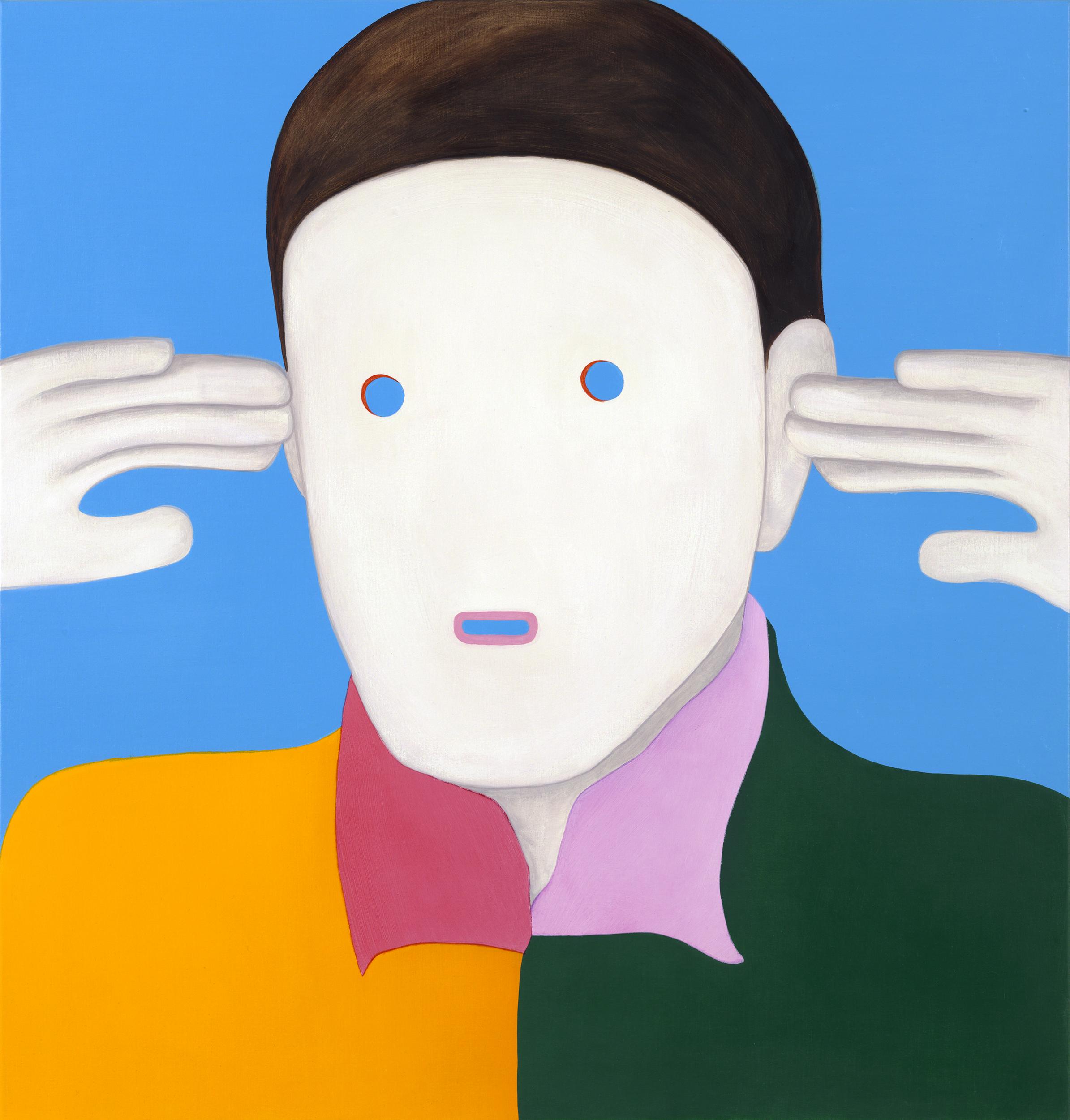 Head, painting by Wouter van Riessen
