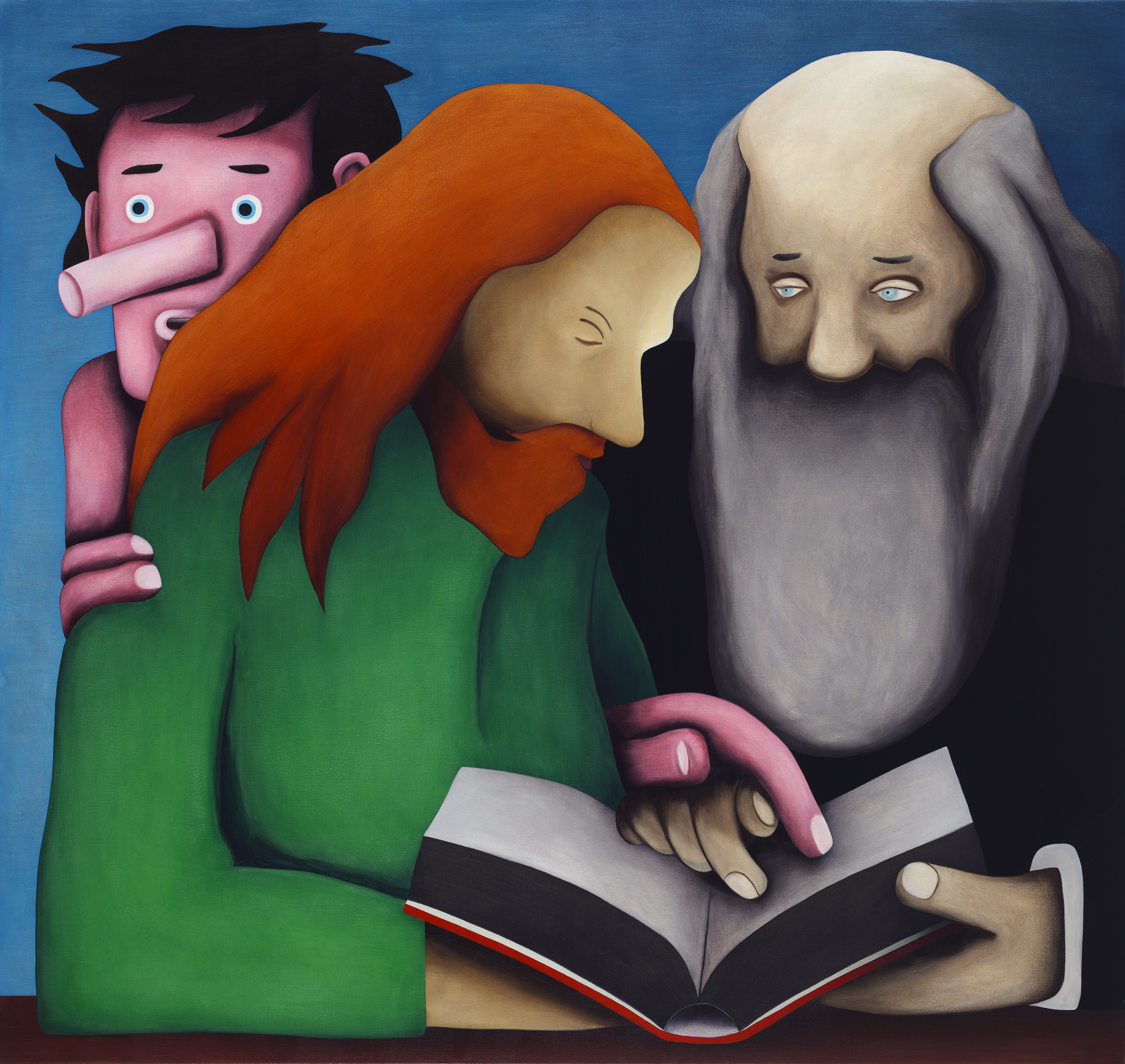 The Book, painting by Wouter van Riessen