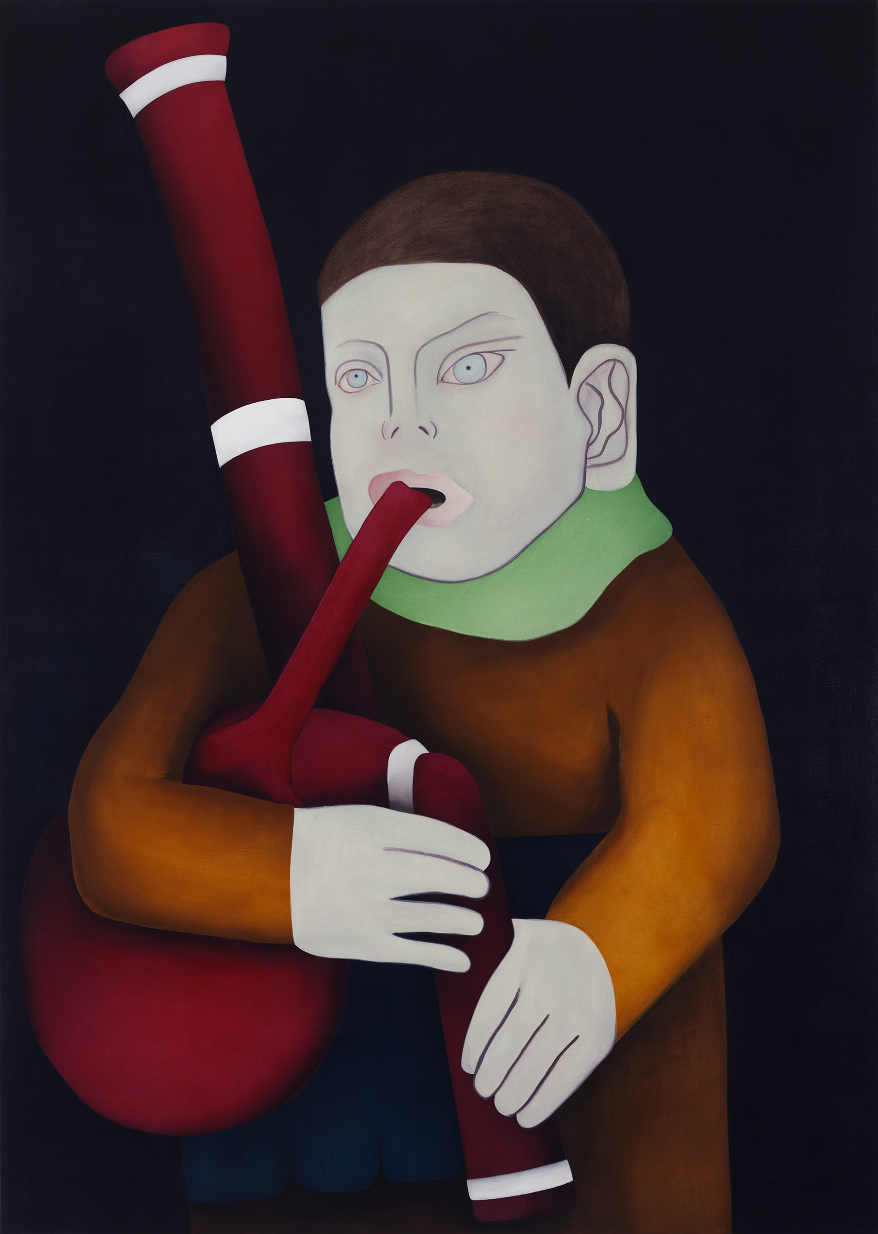 Bagpipes, painting by Wouter van Riessen