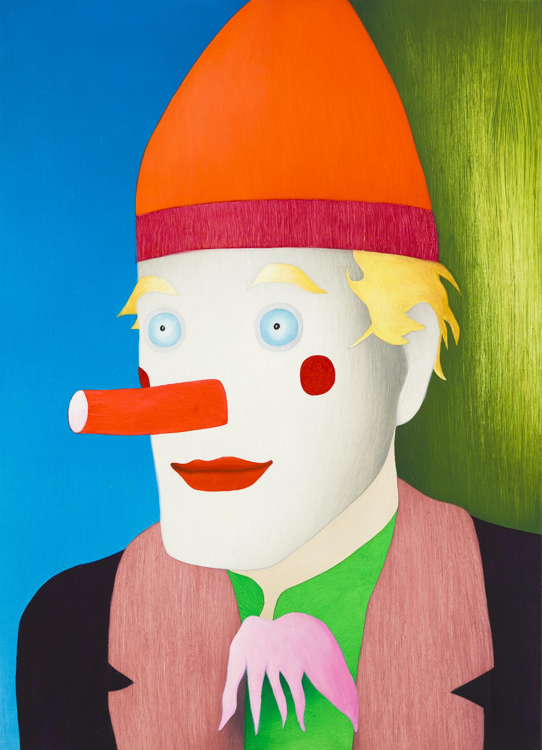 Clown, painting by Wouter van Riessen