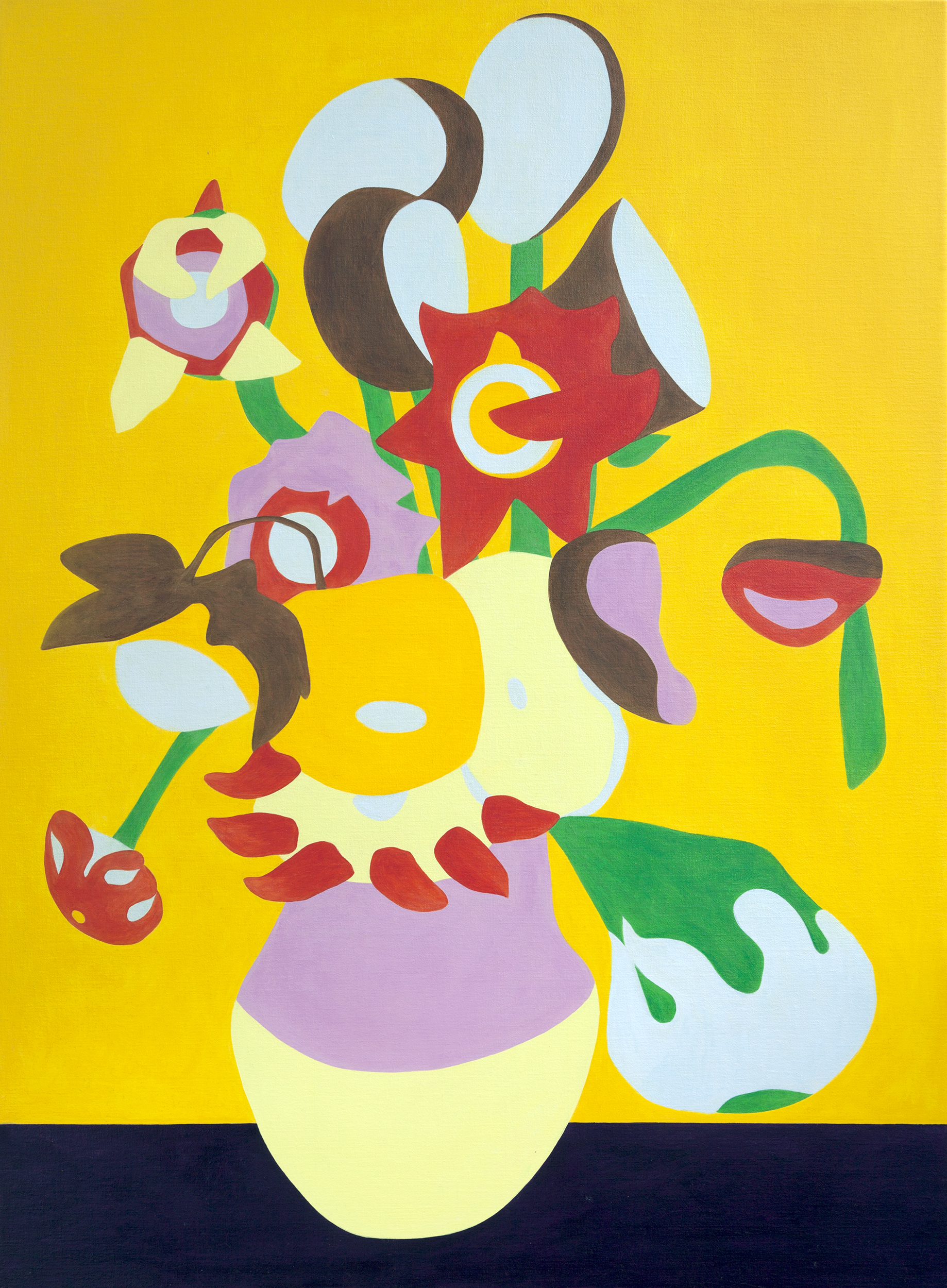 Fifteen Sunflowers in a Vase XXI, painting by Wouter van Riessen