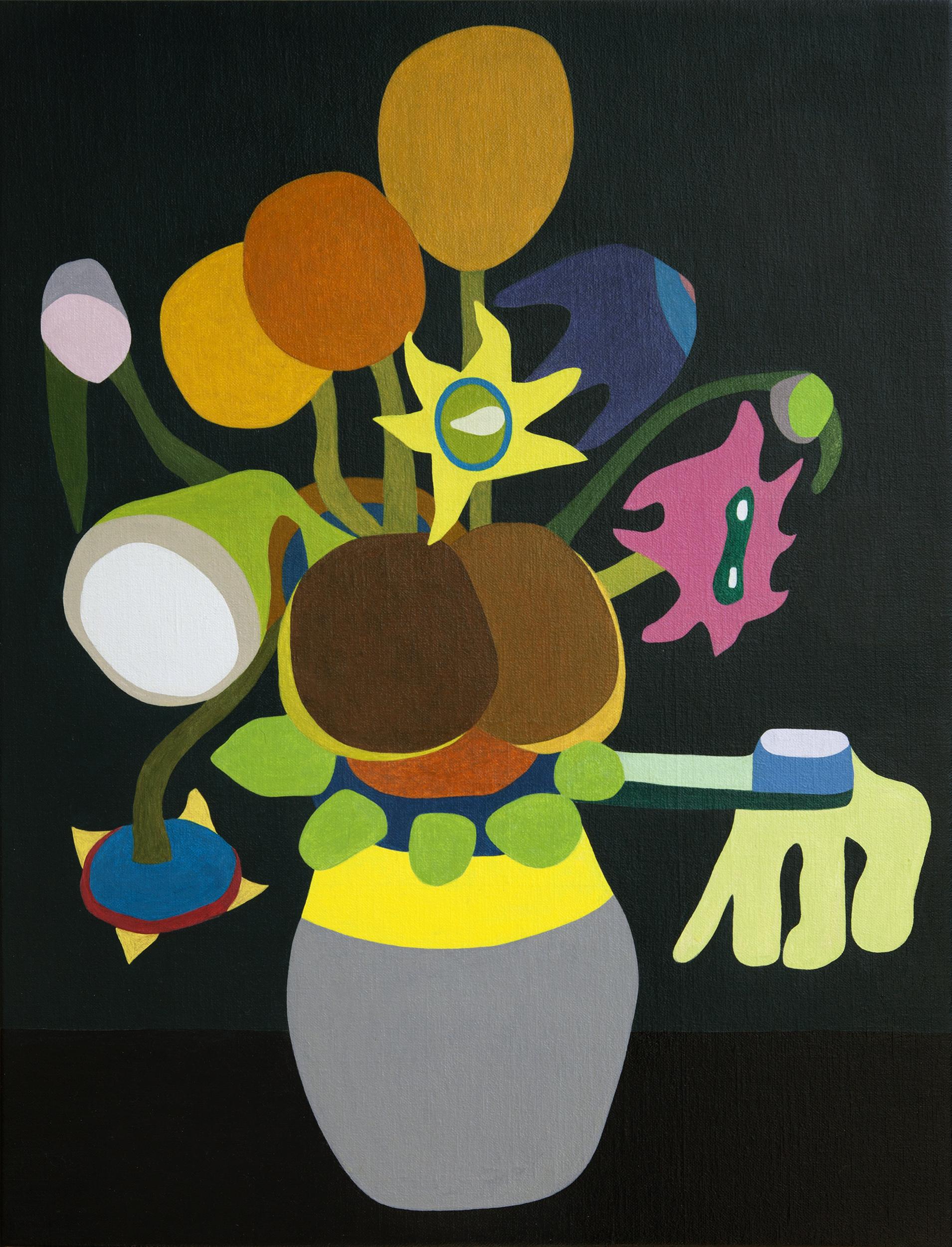 Fifteen Sunflowers in a Vase XXIII, painting van Wouter van Riessen