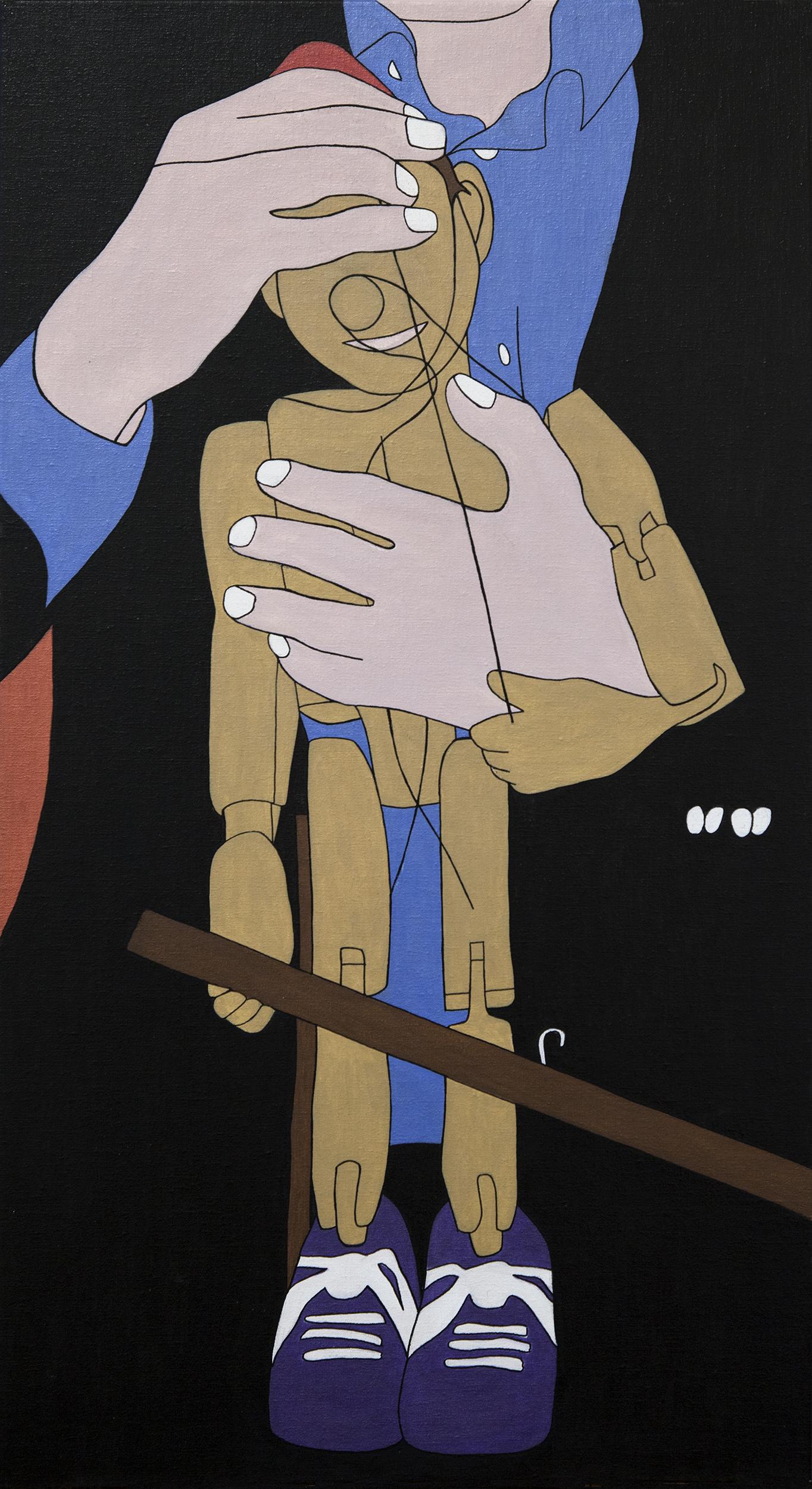 Houdini, painting by Wouter van Riessen
